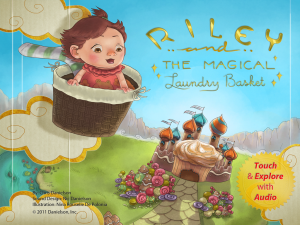 The cover/title of Riley and the Magical Laundry Basket